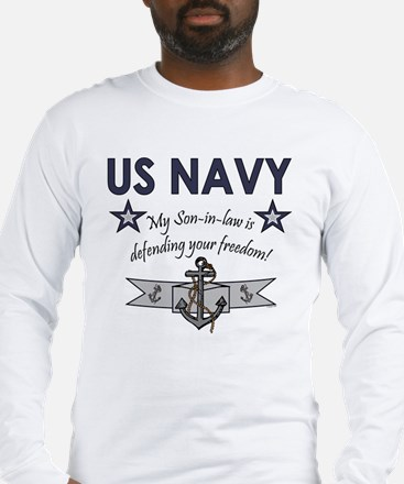 NAVY Son-in-law freedom Long Sleeve T-Shirt