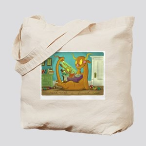 """""""Read With a Friend"""" Tote Bag"""