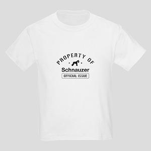 """Schnauzer Property"" Kids Light T-Shirt"
