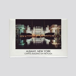 NYS Capitol on the Plaza Rectangle Magnet