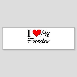 I Heart My Forester Bumper Sticker