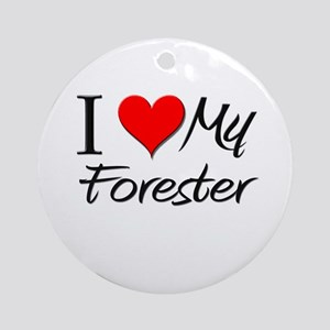 I Heart My Forester Ornament (Round)