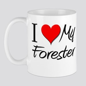 I Heart My Forester Mug