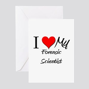 I Heart My Forensic Scientist Greeting Cards (Pk o