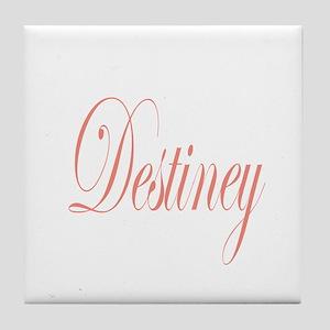 Cursive Destiney Tile Coaster