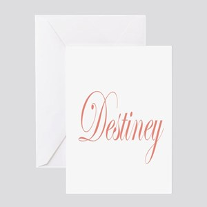 Cursive Destiney Greeting Card