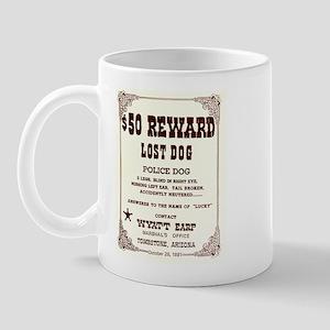 Lost Dog $50 Reward Mug