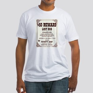 Lost Dog $50 Reward Fitted T-Shirt