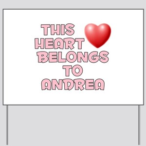 This Heart: Andrea (F) Yard Sign