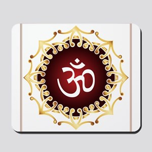 Om Design Sacred Sound Spiritual Meditat Mousepad