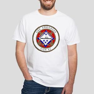USS Arkansas CGN 41 White T-Shirt