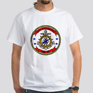 USS Mississippi CGN 40 White T-Shirt