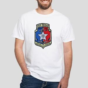 USS Texas CGN 39 White T-Shirt