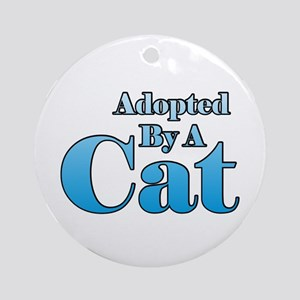 Adopted By A Cat Ornament (Round)