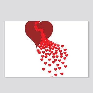 Thousands Of Hearts Postcards (Package of 8)