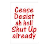 Cease, Desist... Postcards (Package of 8)