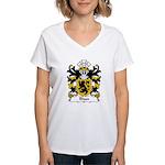 Rhun Family Crest Women's V-Neck T-Shirt