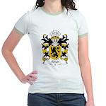 Rhun Family Crest Jr. Ringer T-Shirt