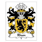 Rhun Family Crest Small Poster