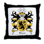 Rhun Family Crest Throw Pillow