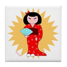 Little Miss Tile Coaster