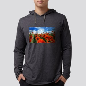 Poppy Flowers Field Long Sleeve T-Shirt