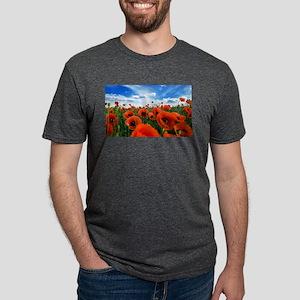 Poppy Flowers Field T-Shirt