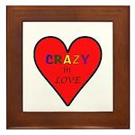 Crazy in Love Framed Tile