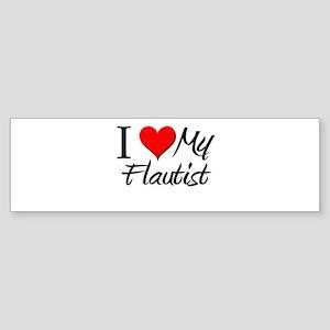 I Heart My Flautist Bumper Sticker