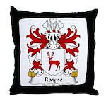 Rayne Family Crest Throw Pillow
