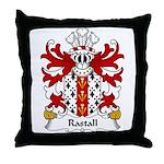 Rastall Family Crest Throw Pillow