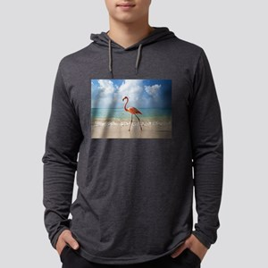 Flamingo On The Beach Long Sleeve T-Shirt