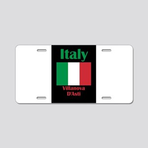 Villanova D'Asti Italy Aluminum License Plate