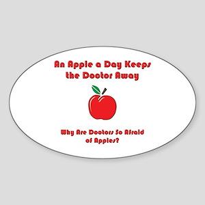 Fear of Apples Oval Sticker