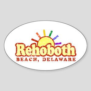 Sunny Gay Rehoboth Beach, Delaware Oval Sticker
