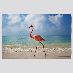 Flamingo On The Beach 4' x 6' Rug