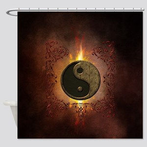 The sign ying and yang with light effects Shower C