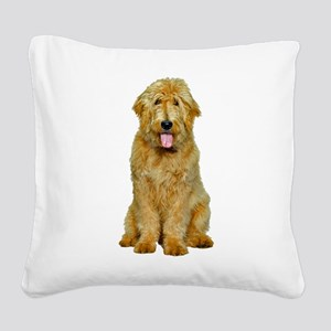 Goldendoodle Photo Square Canvas Pillow
