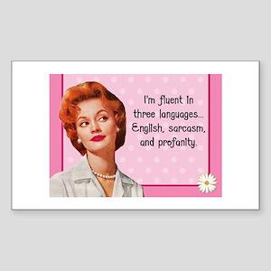 English Sarcasm Profanity Sticker