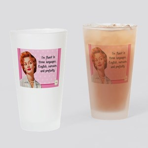 English Sarcasm Profanity Drinking Glass