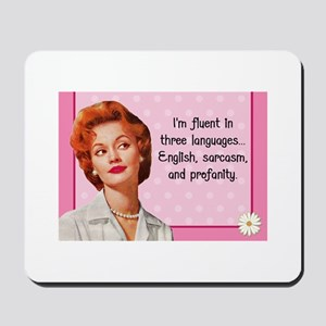English Sarcasm Profanity Mousepad