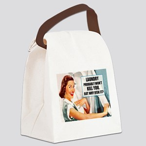 Laundry Won't Kill You Canvas Lunch Bag
