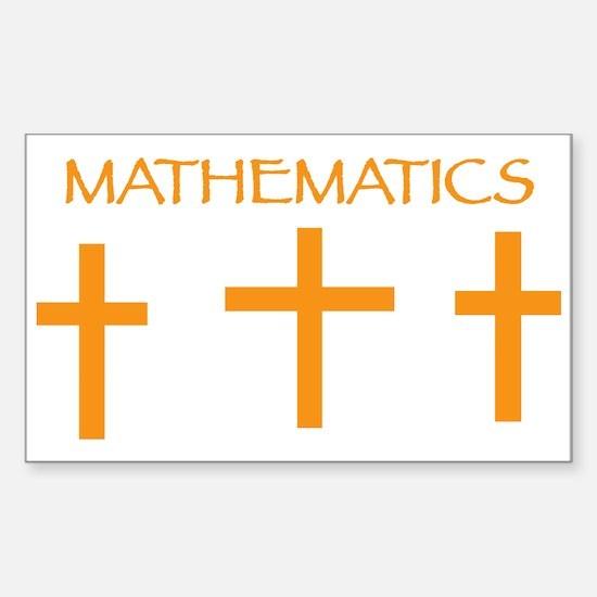 Mathematics Orange Decal