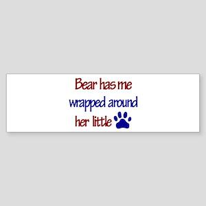 Bear - Has Me Wrapped Around Bumper Sticker