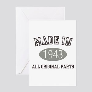 Made In 1943 All Original Parts Greeting Cards
