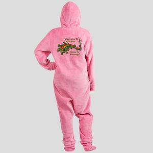 PERSONALIZED Rainbow And Shamrocks Footed Pajamas