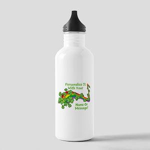 PERSONALIZED Rainbow And Shamrocks Water Bottle