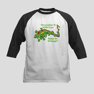 PERSONALIZED Rainbow And Shamrocks Baseball Jersey