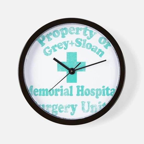 Vintage Property of Grey-Sloan Wall Clock