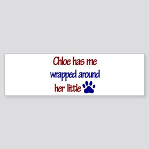 Chloe - Has Me Wrapped Around Bumper Sticker